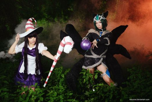 League of Legends - Ahri and Lulu by vaxzone