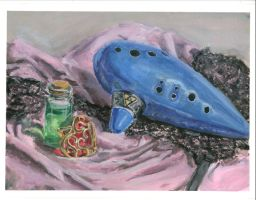 Zelda Still Life Painting by MGabric