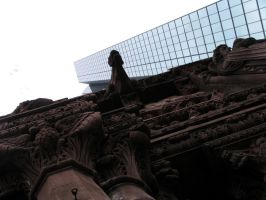 God Gargoyle Glass and Steel by oldsoulmasquer