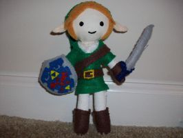 Link plushie by spastic-fantastic