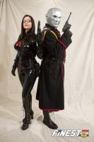Baroness and Destro by TheLadyNightshayde