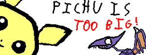 Miiverse Drawings: Pichu Is TOO BIG! by AuraShaman