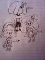 Milla,Arista and Oliver...my oc's by grase11