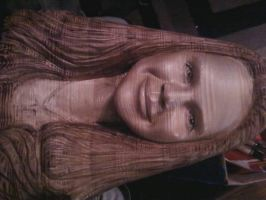 My Daughter Katrina Carved in wood by Johnbalestrino