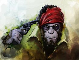 The Ape Hunter by SPartanen