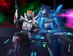 Pulsate and Blurr - Commission by GrungeWerXshop