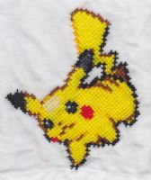 Pokemon Napkin Pikachu by RetroStitch