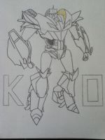 Transformers Prime Knock Out Lineart by ElizabethPrime