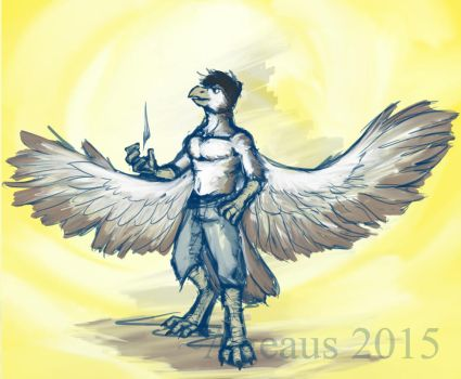 Commission - Hawk by BrotherFlounder