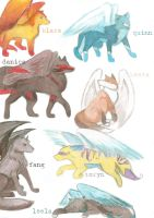 winged wolf pack by erynxx
