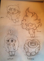 Chibi me faces 01 by mirry92