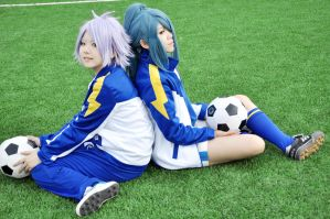 Inazuma11-Kazemaru and Fubuki by Sakina666