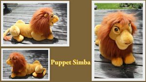 Large puppet Simba by Laurel-Lion
