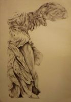Winged Victory of Samothrace by RomiaNyan