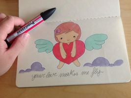 Your love makes me fly by valefatina
