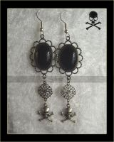 Earring Gothique Skulls by Amelyse