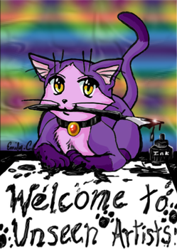 UnA's Mascot Shade the cat by UnseenArtists