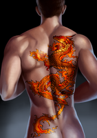 Commission - Fire Dragon Tattoo Studio by RedMorpho