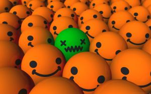 Emo Sick Smiley Wallpaper by Ixionx