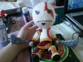 SackBoy - Kratos by TehKnittyKitty