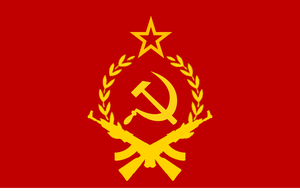 Communist militant flag by Flagsdesigns