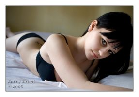Valerie on the Bed I by inessentialstuff