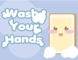 Wash Your Hands Kawaii by Daikonko
