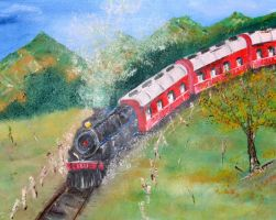 1211 Steam Engine by DeniseTomasura