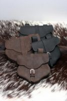 Oil Tanned Leather Pouches by Versalla