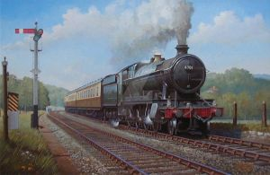 Ex-GWR 2.8.0 0n Whiteball bank by Artistjeffries