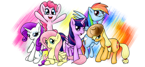 the mane 6 by shadowsn25