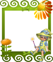 Sunflower Child Frame by mysticmorning
