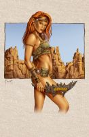 Flame Hair, Desert Elf Color by MitchFoust