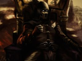 Noob Saibot MK9 - ending picture by LetticiaMaer