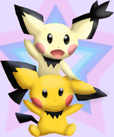 Spikey Eared Pichu by CosmicSprinkles