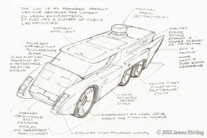 Combat Utility Vehicle Concept Drawing by Phrostbyte64
