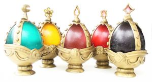 Complete set of Madoka Magica Soul Gems by WTFcharms