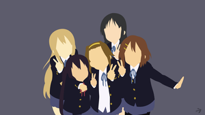 K-ON Minimalist Anime Wallpaper by Lucifer012