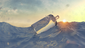 Bottle ocean test by MUSEION-ARTWORK