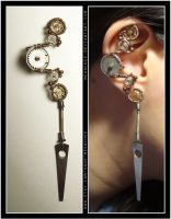 Ratchet Dangly ear cuff by Meowchee