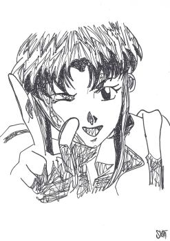 Evangelion - Misato Sketch by SlotheriuS