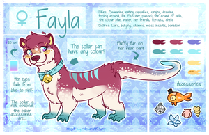 Fayla Reference Sheet (Otter form) by Fayven