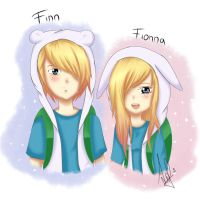 Finn And Fionna - Adventure Time by Libe13