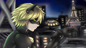 Chat Noir - Night Before by Pandorex