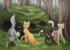 Thunderclan's Apprentices - Book 1 by Feline-Basilisk