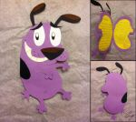 Courage the Cowardly Dog Birthday Card by steffy-beff