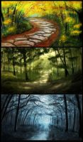 Speed Painting: Forests by AlphaLunatic
