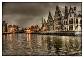 Snow In Ghent III by OnayGencturk