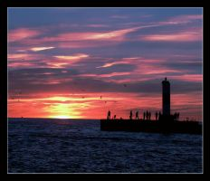 Grand Haven Sunset by morpheusredux