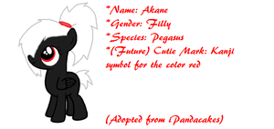 Custom Filly Adopt: Akane by LyraTheCat101